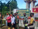 Pemdes Talawaan Atas yang dipimpin Penjabat Hukum Tua Feky Kasihidi saat menyerahkan Hand Sanitizer, Sabun dan Tisu di 4 Gereja yang disaksikan unsur Tripika