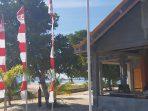 Bendera Merah Putih yang berkibar di Desa Tambun, Kecamatan Likbar